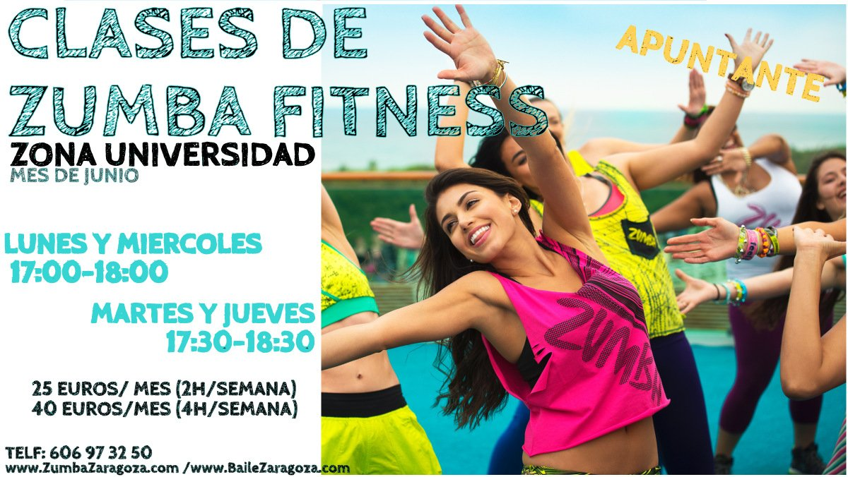 Zumba Zaragoza intensivo Junio Julio intensivo